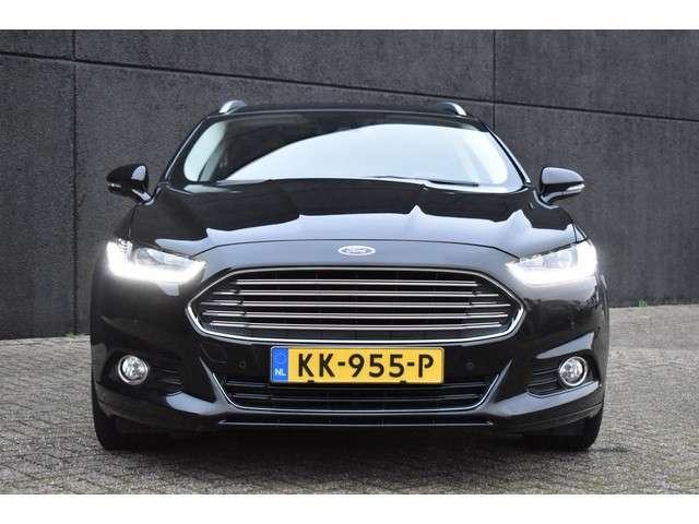 "Ford Mondeo Wagon 1.5 TDCi 120pk Titanium Lease Edition | Panoramadak | Navigatie | Full lederen bekleding | stoel, stuur en voorruitverwarming | Parkeersensoren | Trekhaak | Elektrisch bedienbare achterklep | 19"" LMV | Privacy glass |"